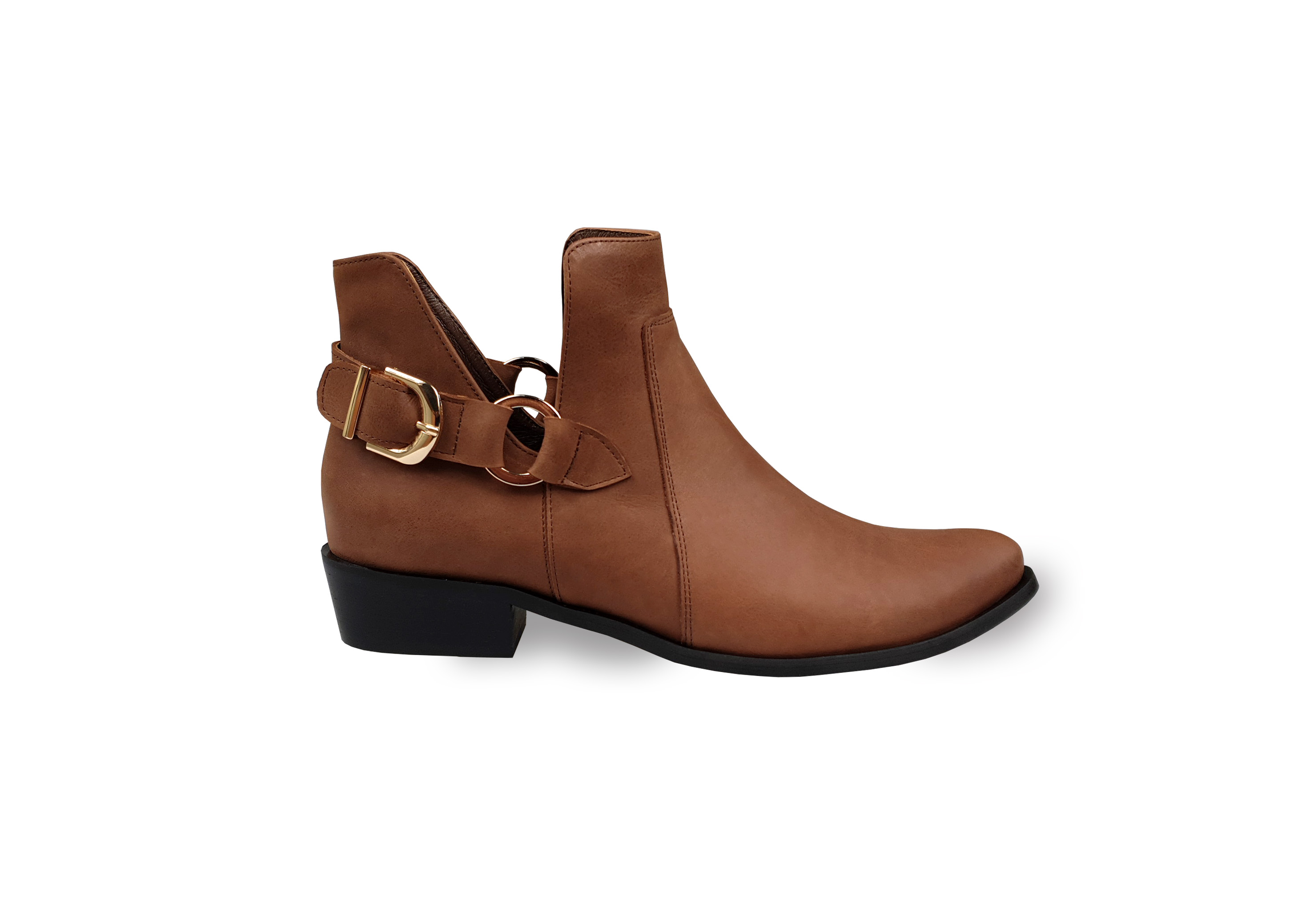 Cara tan leather ankle boots