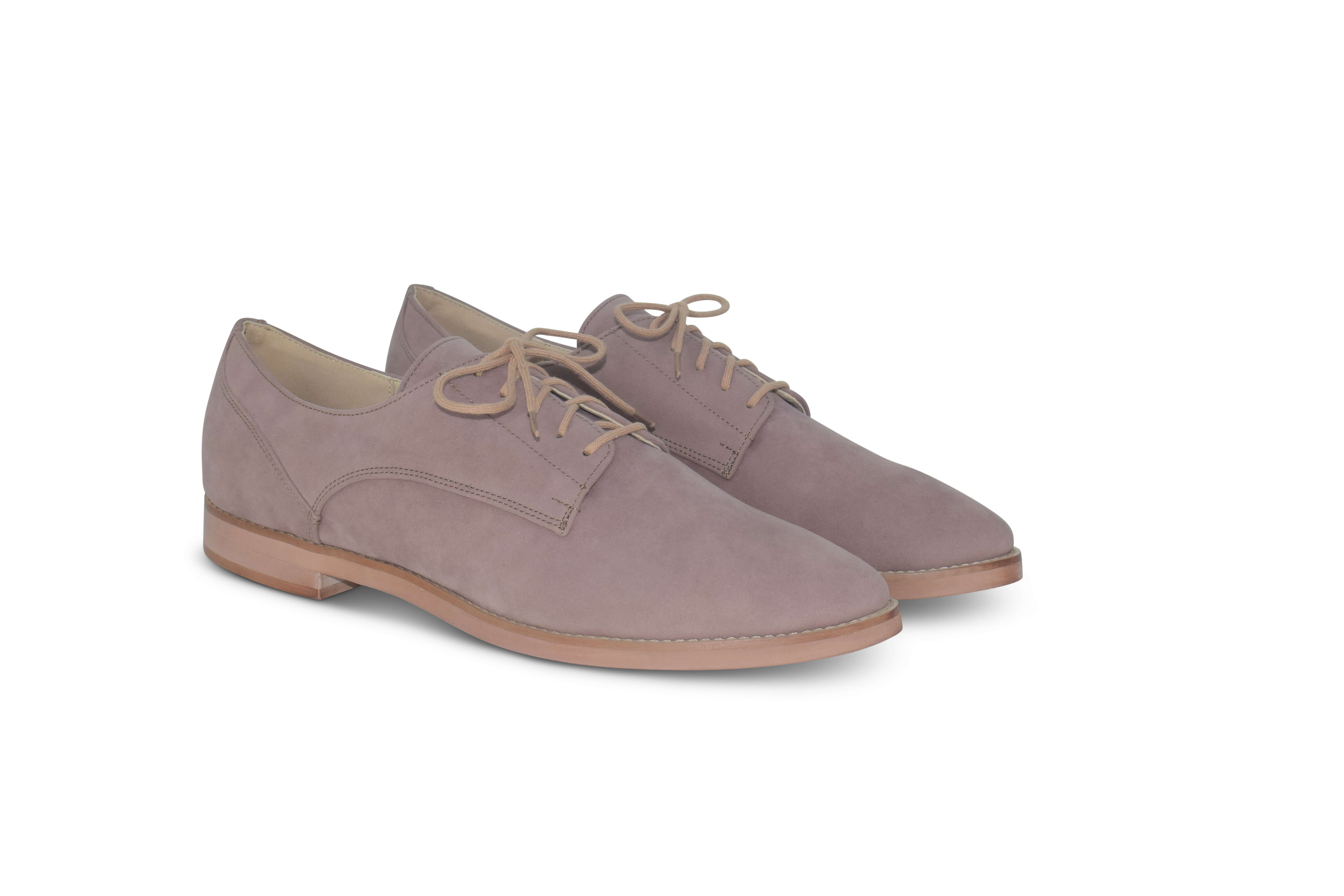 Harriett faux suede Oxfords - beige