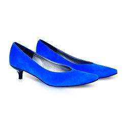 Kiki S pointed toe kitten heels - royal blue