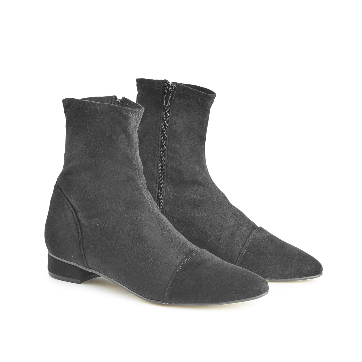 Luna Sock Boots With Pointed Toe - Black