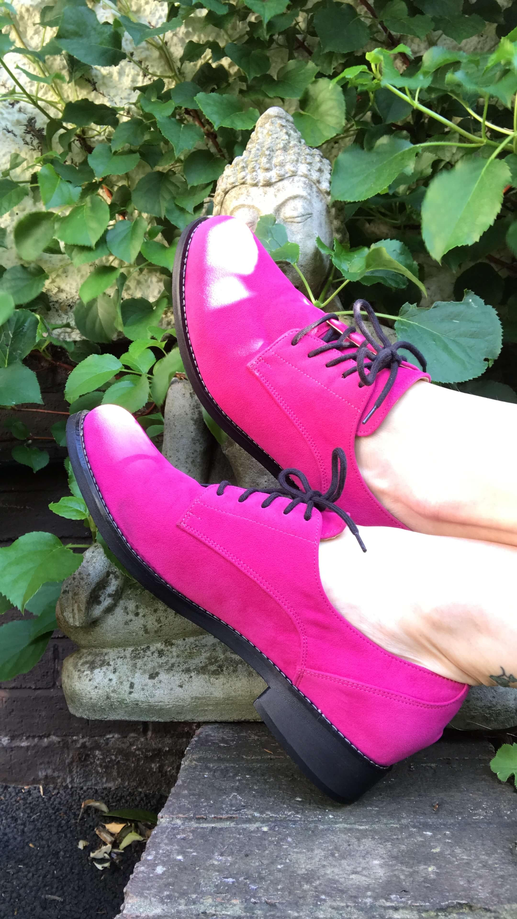 Olga rounded toe Oxfords - fuchsia