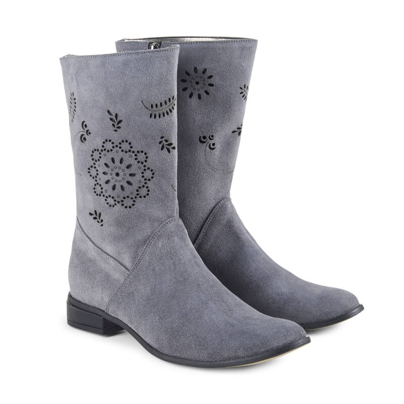Andreia grey suede ankle boots
