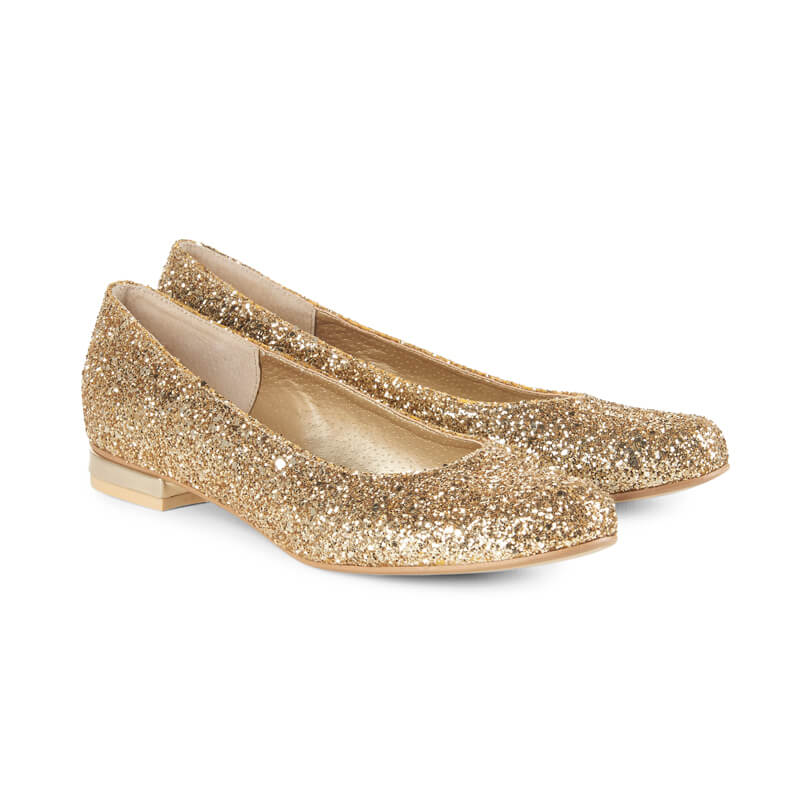 Ruby sparkle ballet pumps