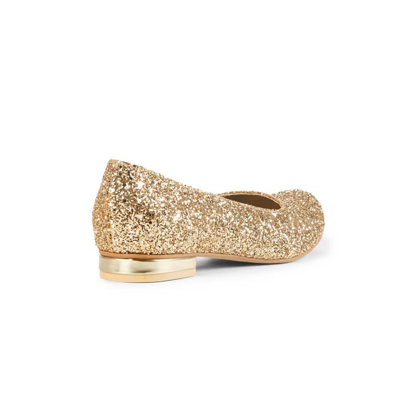 Ruby sparkle ballet pumps