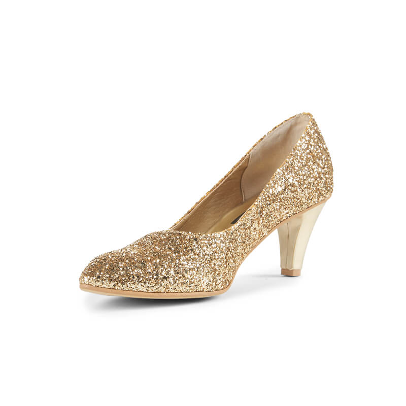 Aria gold glitter high heels