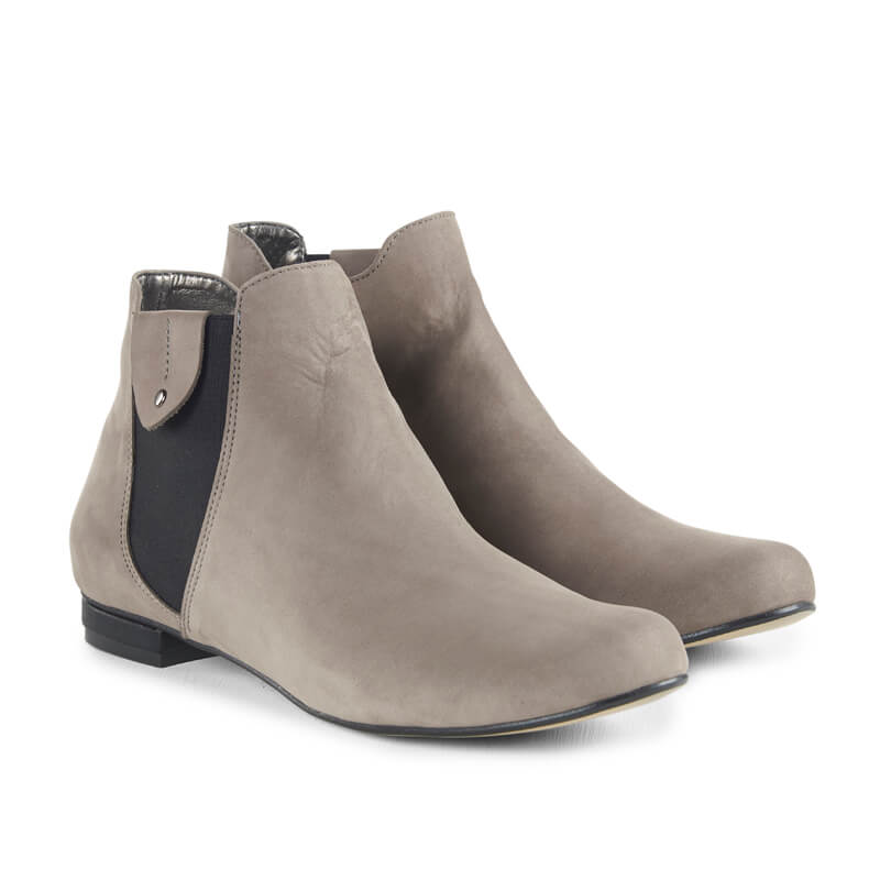 Gobi grey nubuck leather ankle boots