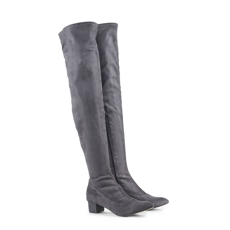Helen stretch over-the-knee heeled boots