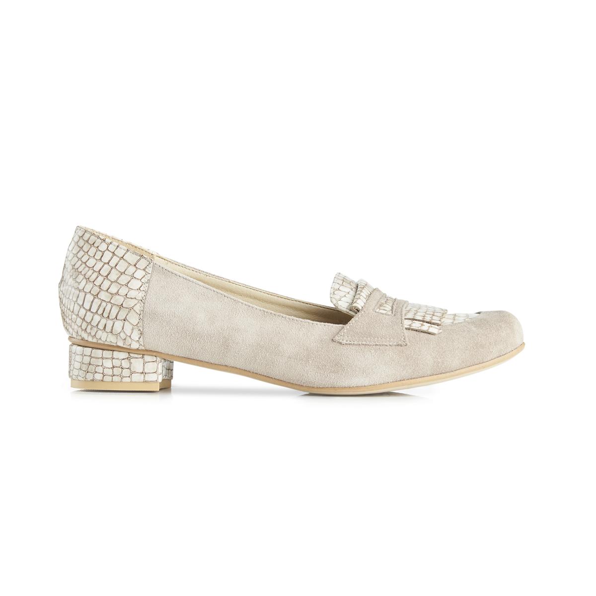 Anna suede loafer - beige