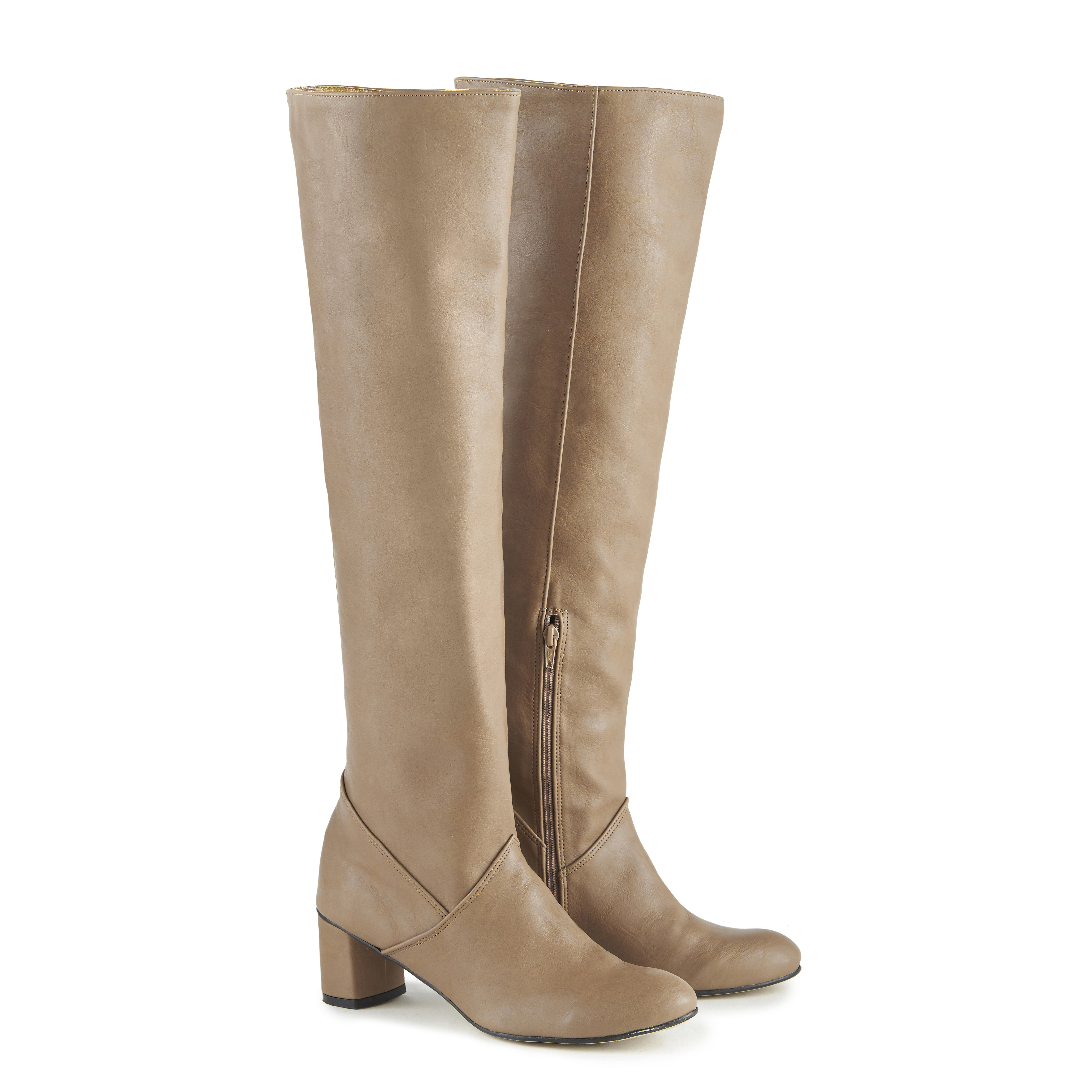 Donna vegan leather over-the-knee boots