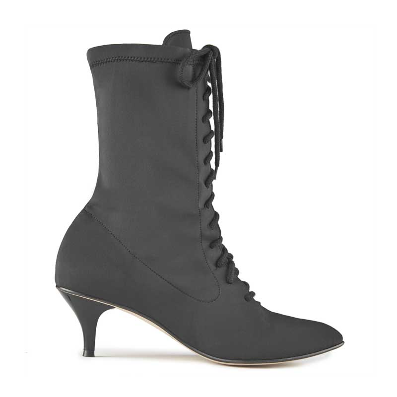 Florence Stretch Lace-Up Ankle Boots
