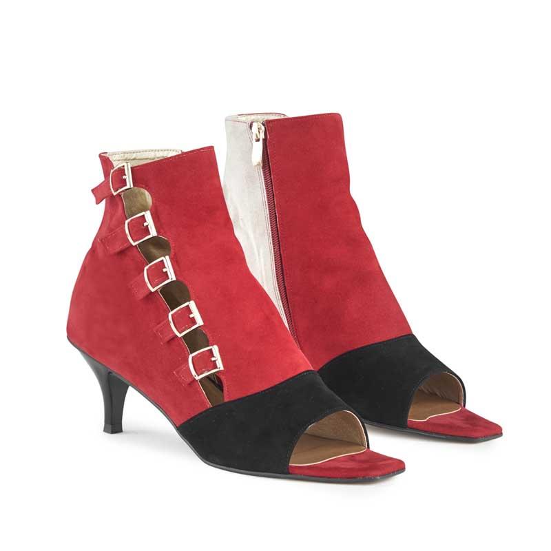 Katya Contrast Open-toe Shoe Boots