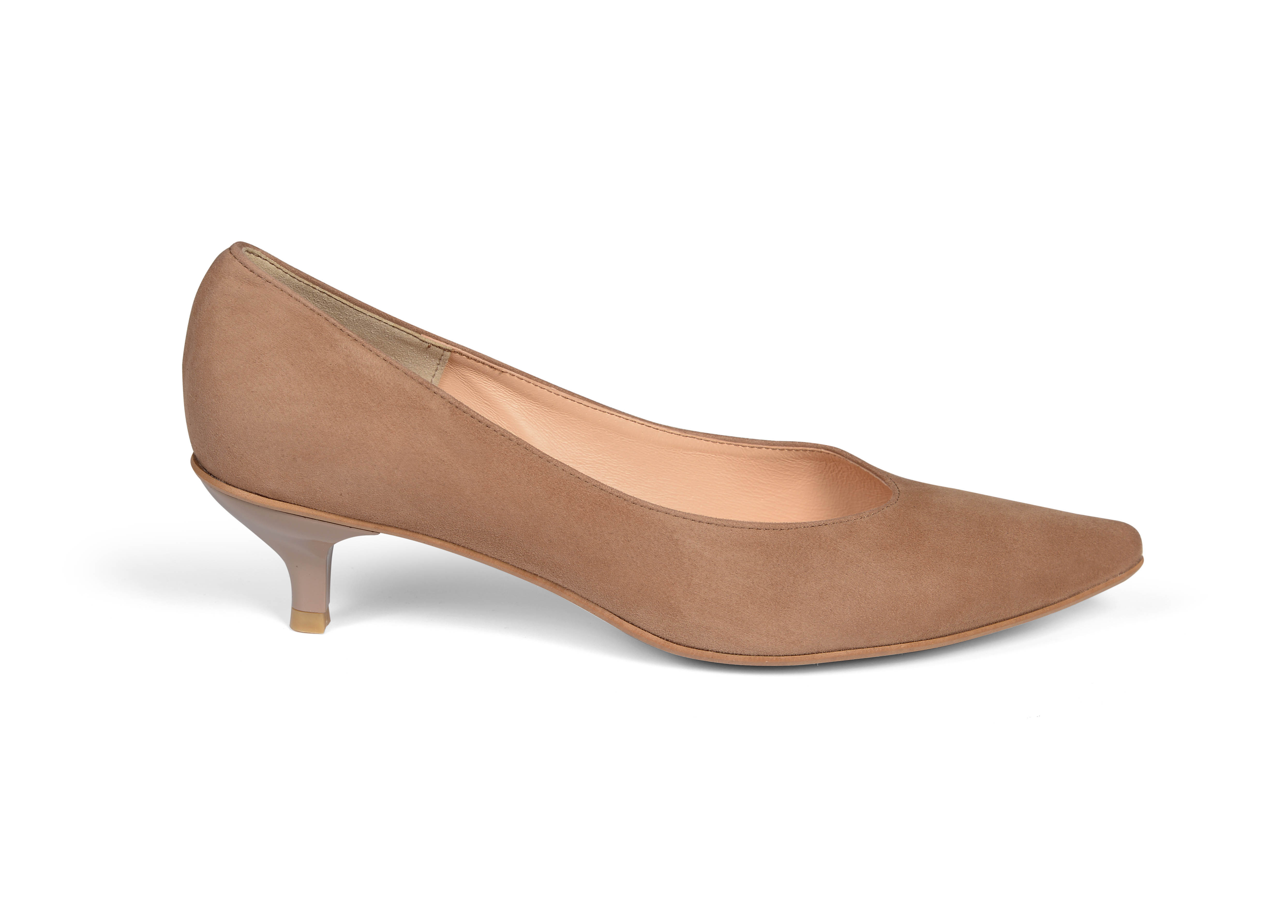 Kiki S pointed toe kitten heels - light brown