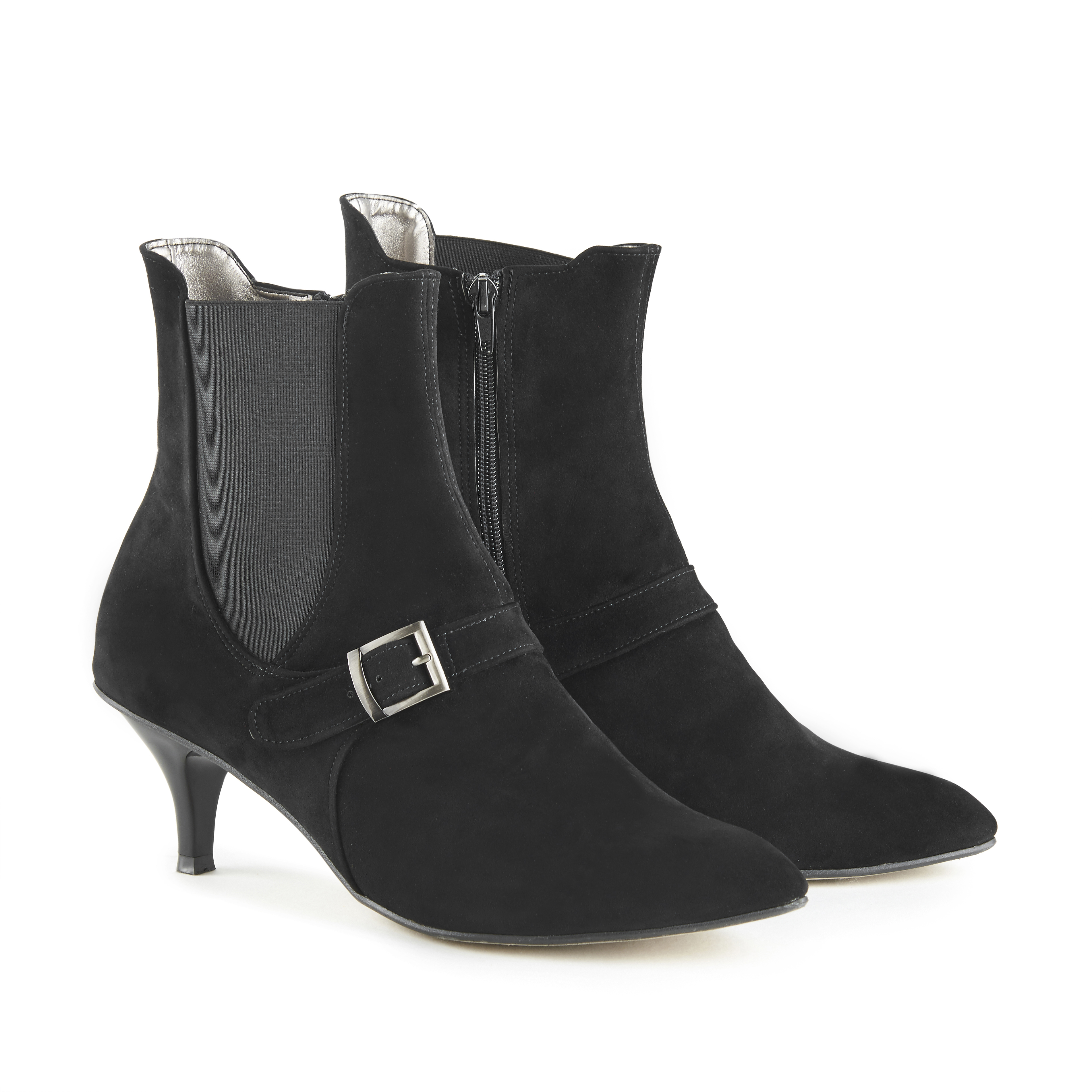 Lola Black Suede Ankle Boots