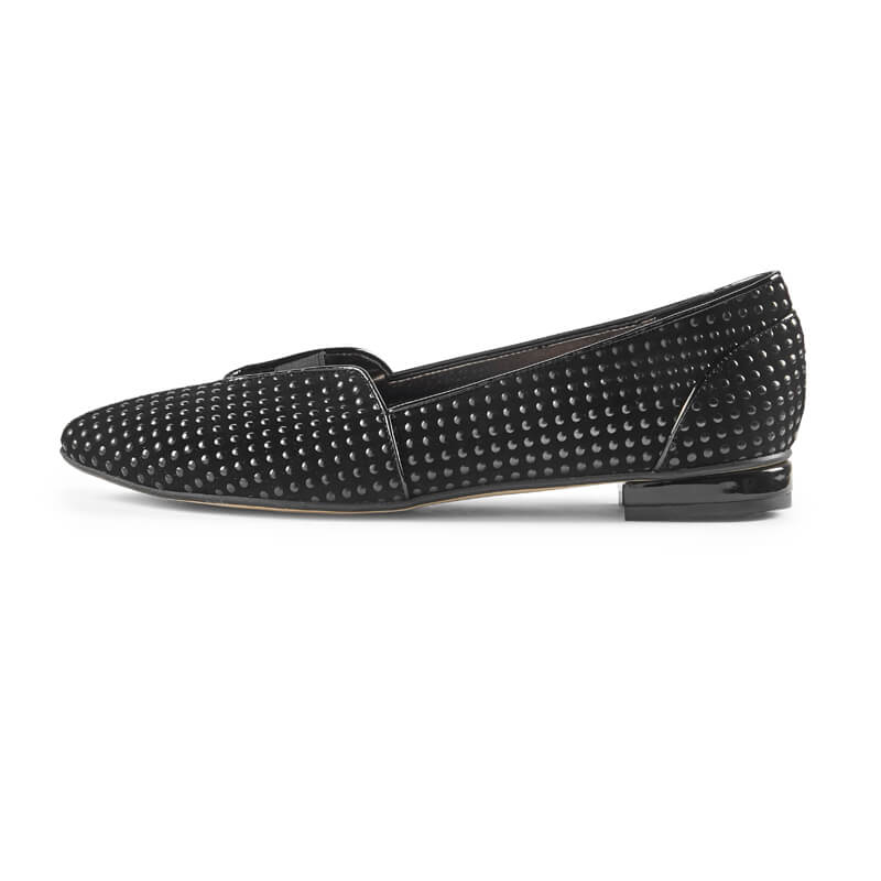Lucy textured black loafers