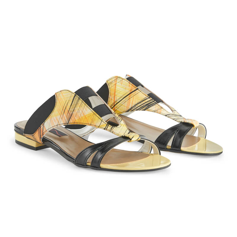 Yana multicolour leather sandals