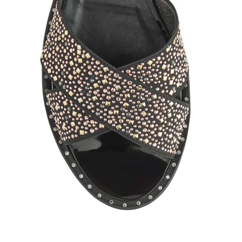 Martina elastic strap sandal