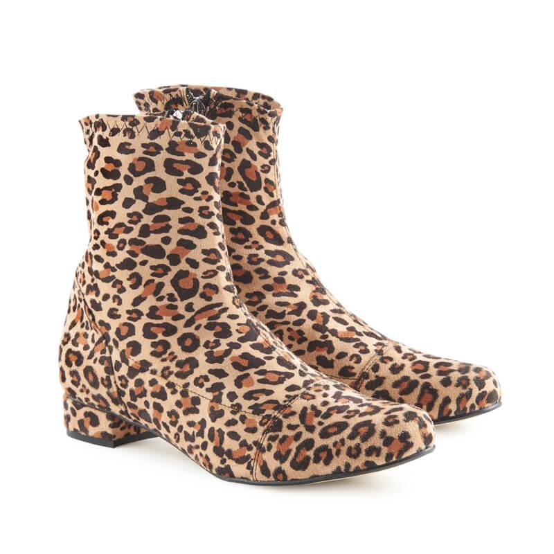 Luna leopard-print sock boots