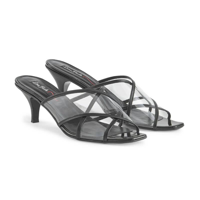 Vanessa square toe plexi sandal
