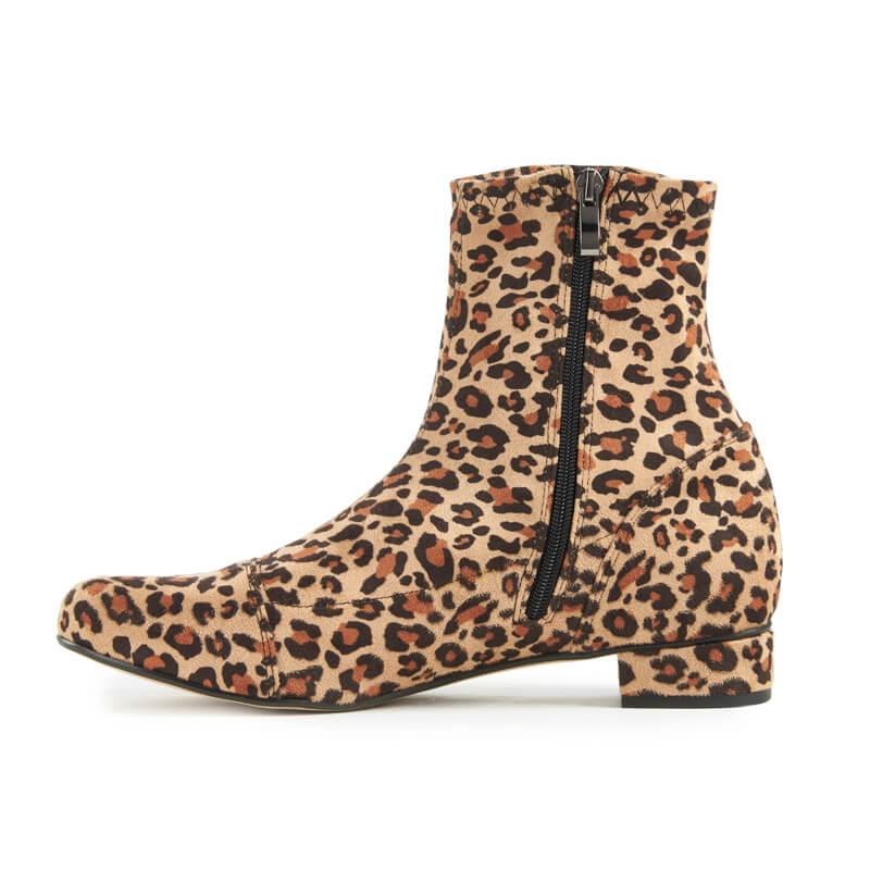 Luna Sock Boot - Leopard Print