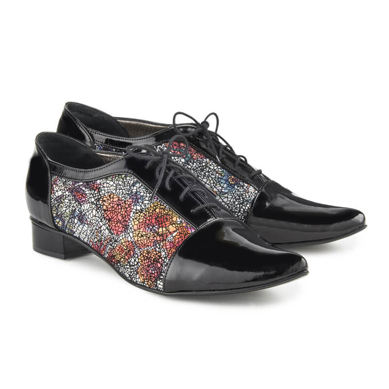 Miles black leather jazz shoes