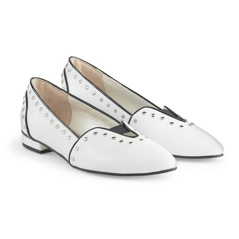 Lucy Leather Stud Loafers