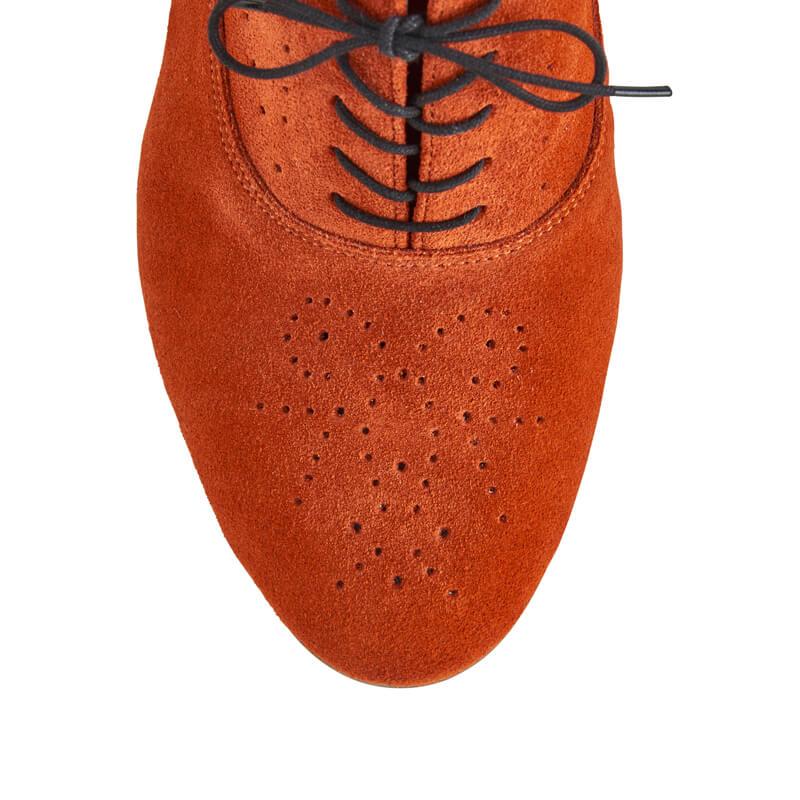 Camille burnt orange leather Oxfords
