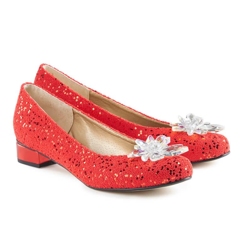 Pretty red glitter ballet pumps