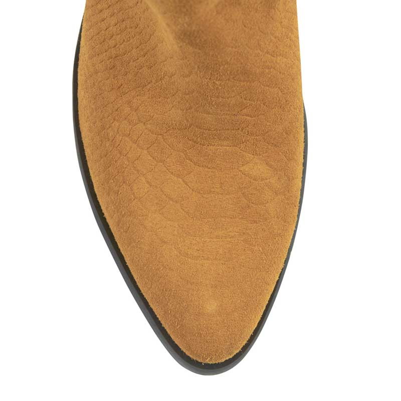 Texas Ochre Suede High Cowboy Boots